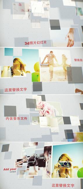 ae三维立体空间图文展示模板