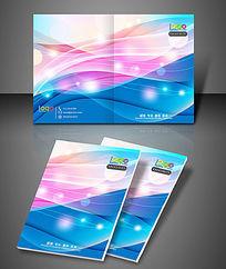 彩色梦幻光影企业文化封面