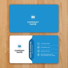 科技公司高级商务名片设计图片