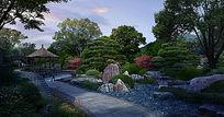公园植物景观效果图