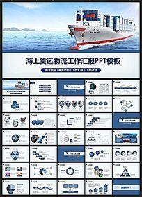 海上货运物流PPT模板