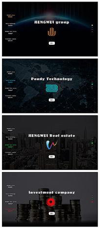 黑色欧美风格网站导航页设计 PSD