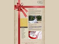 婚纱咖啡主题网站界面设计