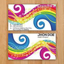简洁广告设计印刷行业名片模板设计