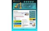 建筑公司大气清爽企业网站设计