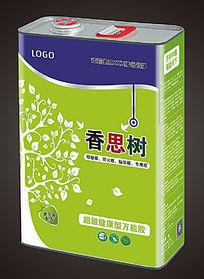 绿色树叶生态高级万能胶桶包装