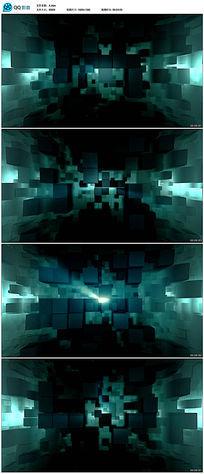 3d立体方块背景视频