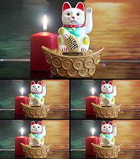 招财猫红蜡烛视频