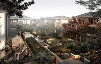 别墅中庭半鸟瞰图