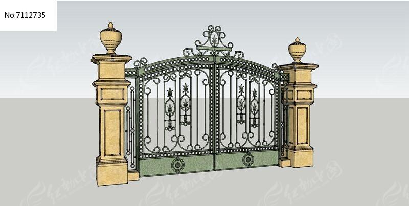 欧式大门素材下载_围墙|栏杆|大门设计图片