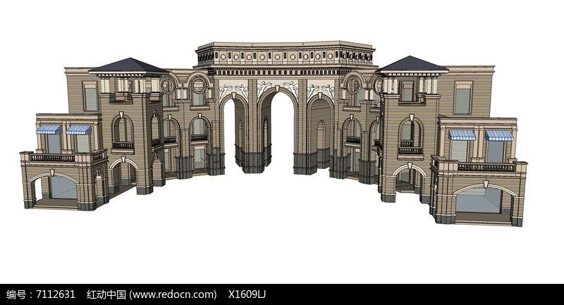 欧式商业街拱形大门