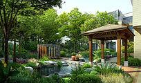 庭院自然休闲景观 PSD