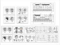 多层别墅总图平面图立面图