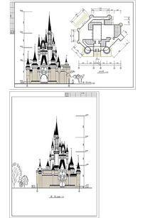 法国城堡建筑 CAD