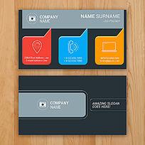 个性对话框名片设计