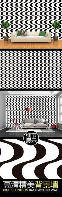 简约弧形图案艺术创意背景墙