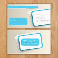 蓝色大气名片卡片设计