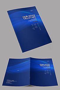 蓝色科技企业封面设计