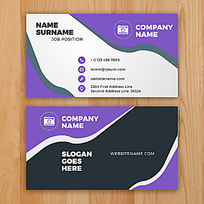 紫色名片矢量模板下载
