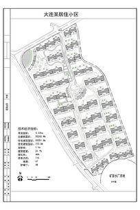 大连某居住小区平面图 CAD