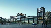 钢构架商业建筑