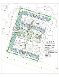 高层住宅区公园休闲绿地景观平面图