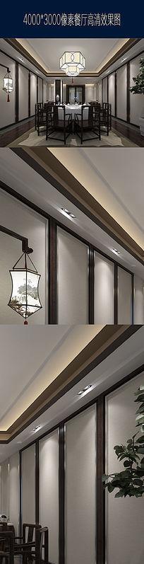 高清餐厅包间效果图设计 JPG