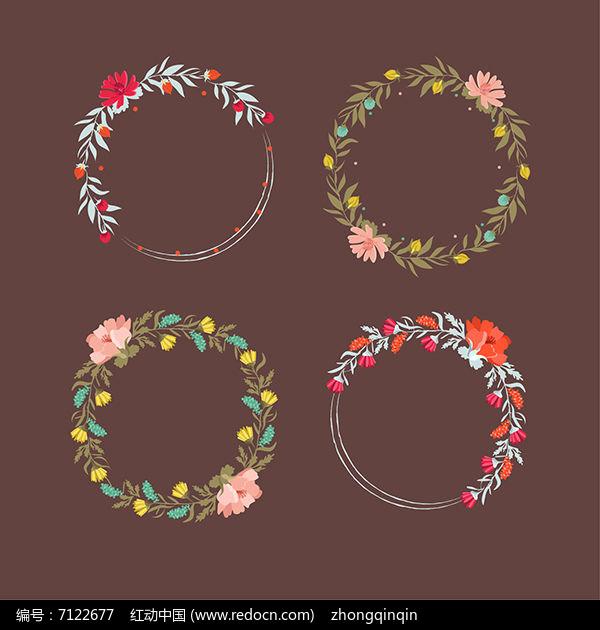 花艺花卉花式边框ai矢量素材