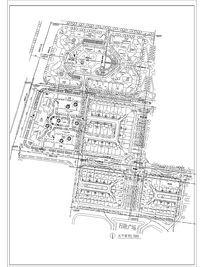 建筑区周边休闲绿地总规划图 CAD