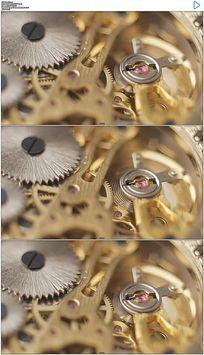 金色机械齿轮视频素材