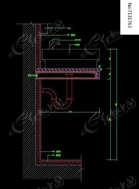 卫生间剖面浴室柜页码动态图图片素材cad尺寸块石材图片