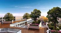 现代简洁屋顶绿化 PSD