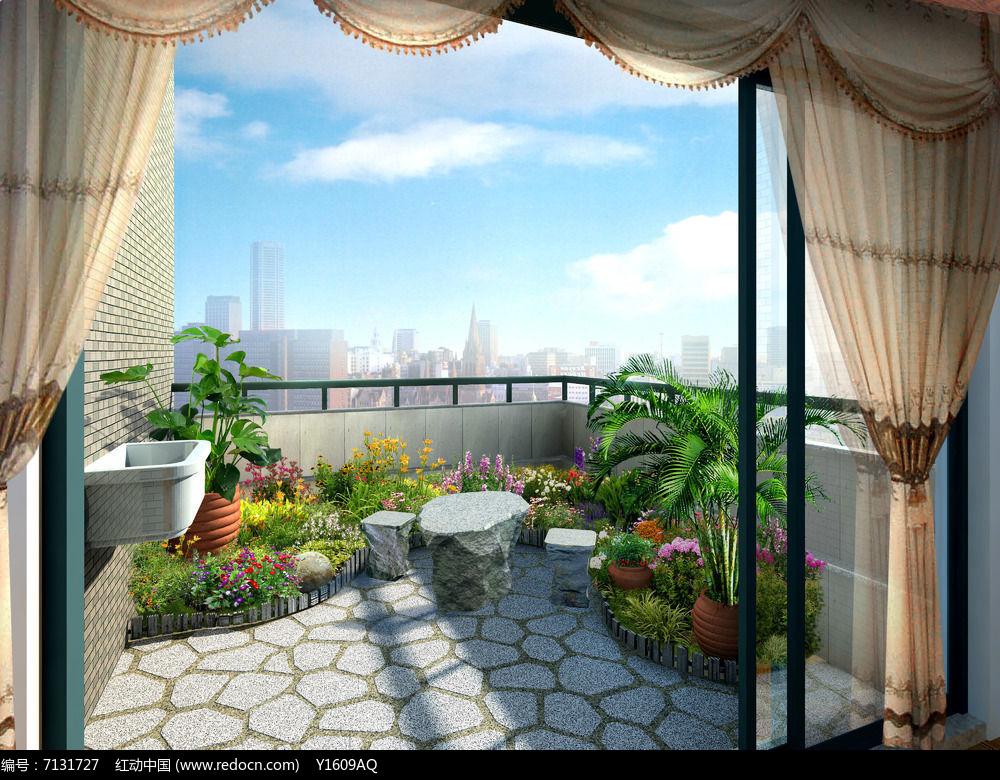 原创设计稿 效果图库/视频展示 屋顶花园 阳台一角绿化  请您分享: 红