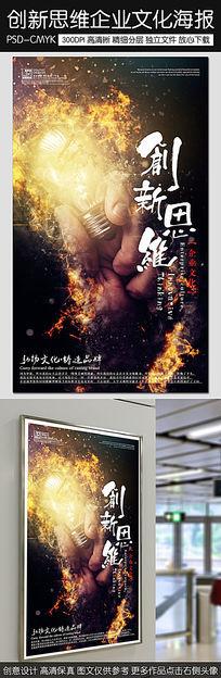 创意企业文化创新思维宣传海报