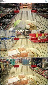 超市购物车穿梭实拍视频素材 mov