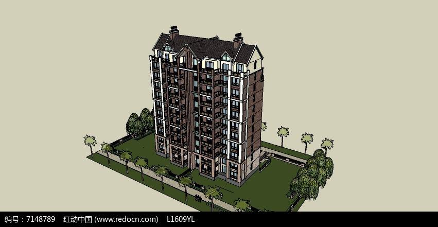 欧式小洋房素材下载_建筑设计图片