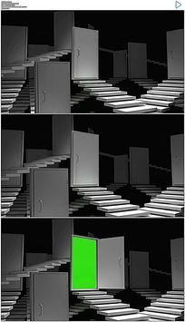 三维门打开绿屏抠像视频素材