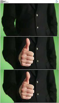 商人竖起大拇指点赞视频素材