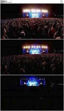 演唱会粉丝欢呼狂欢视频素材
