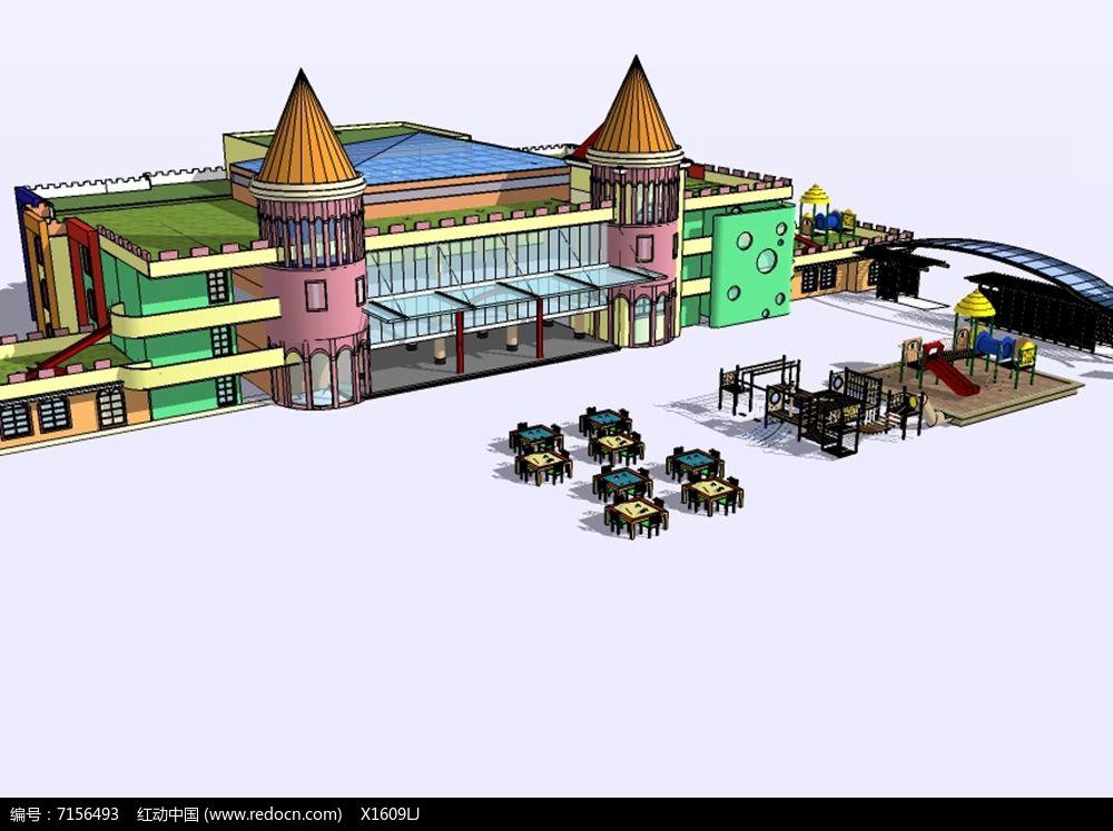 彩色城堡户外活动中心幼儿园图片