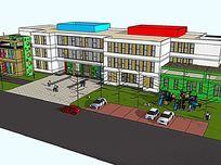 彩色顶楼幼儿教学楼