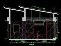 顶层别墅主卧室背景墙立面图