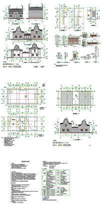 多功能展览馆CAD图纸