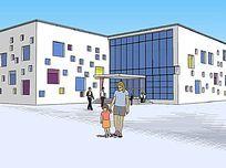 方块图案几何幼儿园
