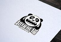 搞怪熊猫logo
