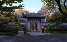 古典庭院入口景观