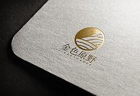 简约金色原野logo