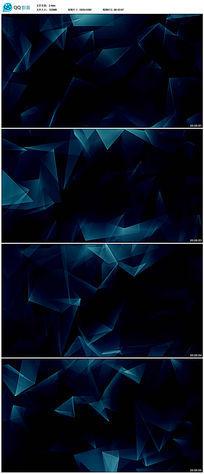蓝色不规则图案背景视频