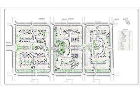 某住宅小区总平面投标方案图 CAD