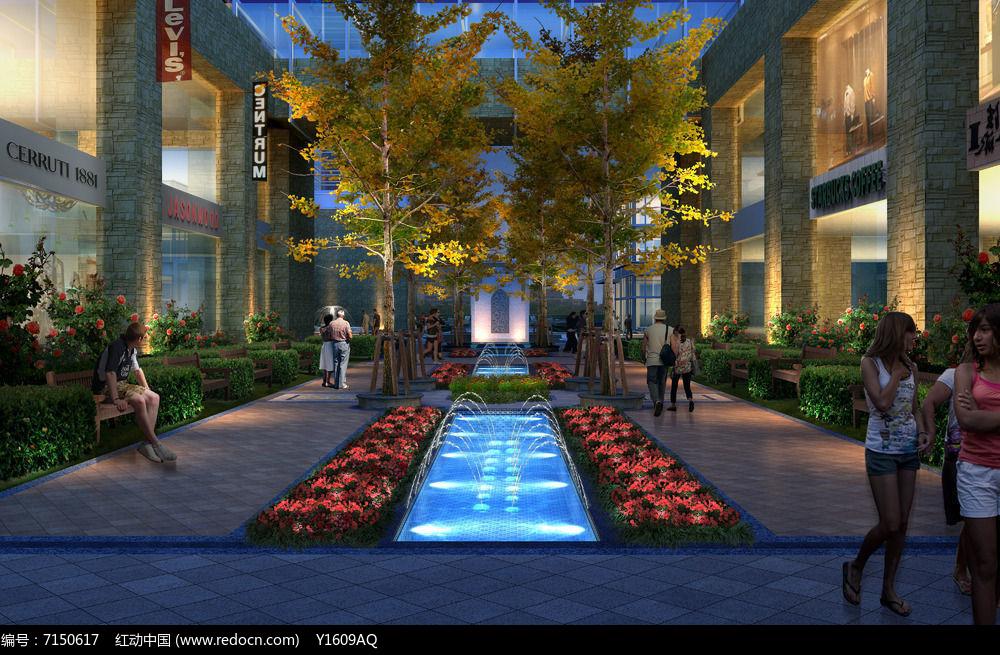 商业休闲庭院景观图片